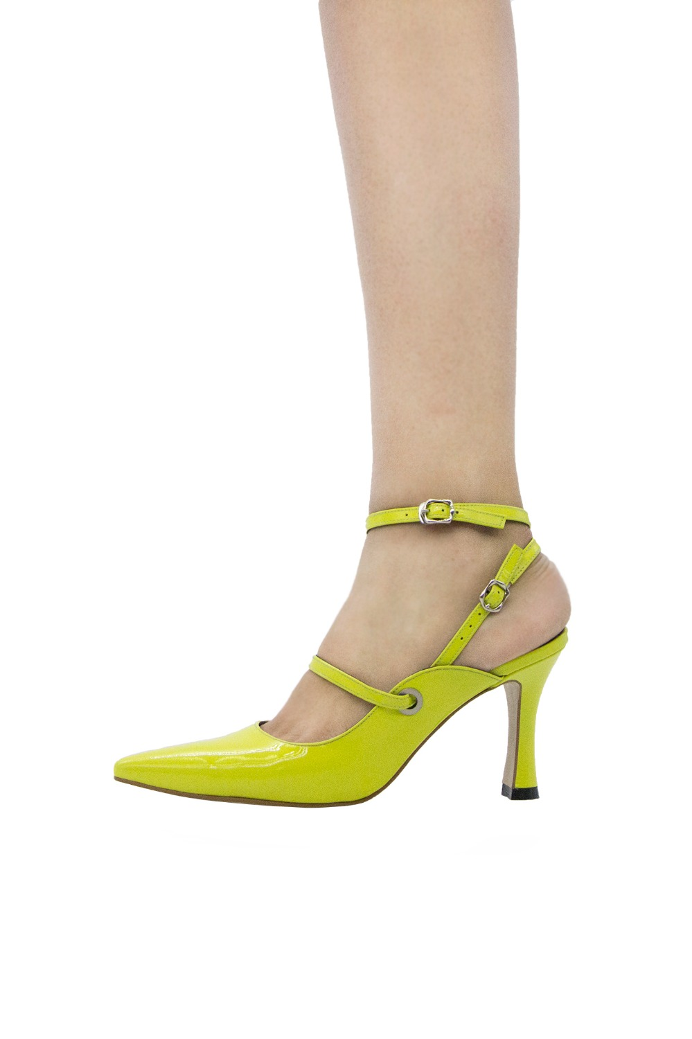Louis Double Strap Lime [ 5cm, 8cm ]