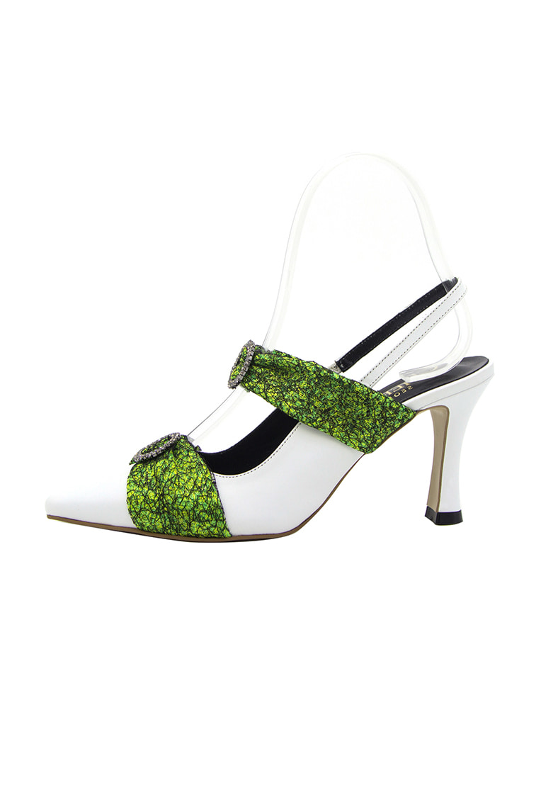 Dia Strap Mule Lime Fabric