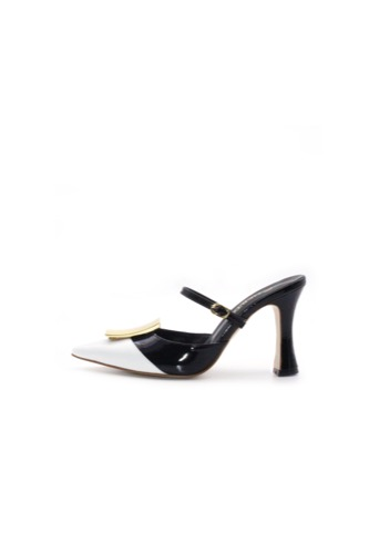 Antico Mule White/Black