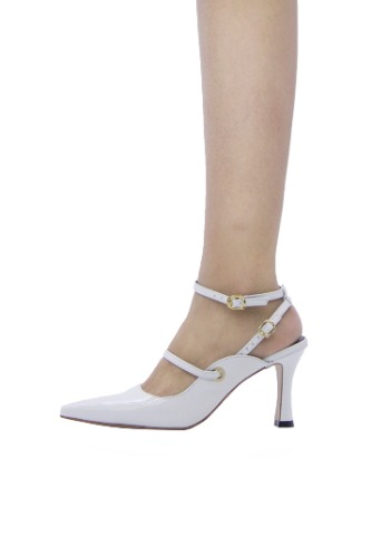 Louis Double Strap White [ 5cm, 8cm ]
