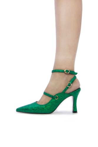 Louis Double Strap Crack Green  [ 5cm, 8cm ]