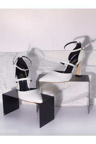 Bianco Ankle Strap heels White