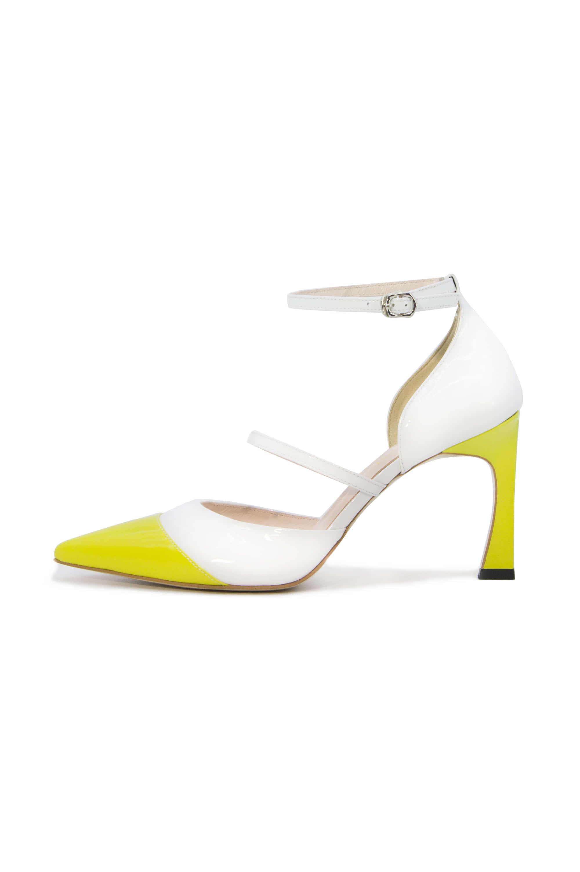 Bianco Ankle Strap heels Lime